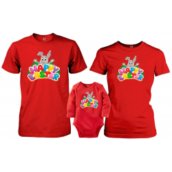 Set famile rosu ''Happy Easter'' Tika90