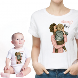"Set tricou cu body ""Mommy's Boy"""