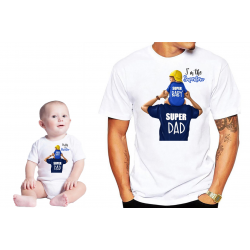 Set tricou cu body ''Daddy is my superhero''