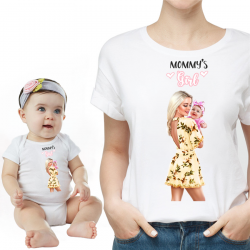 "Set tricou cu body ""Mommy's Girl 3"""